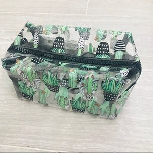 Forever 21 Clear Cactus Makeup Bag